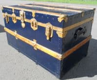 Wooden Bound Trunk Coffee Table